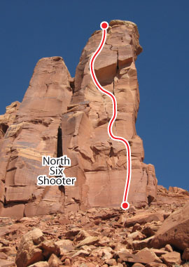 Lightning Bolt Cracks, Desert Towers Route Photo