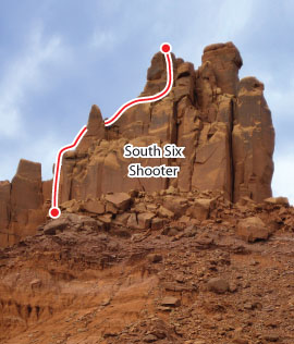 South Six Shooter, Desert Towers Route Photo