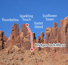 Sparkling Touch, Desert Towers Route Photo