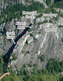 Calculus Crack, Squamish Route Photo