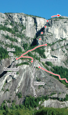Squamish Buttress, Squamish Route Photo