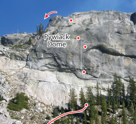 Aqua Knobby, Tuolumne Route Photo