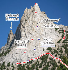 Southeast Buttress, Tuolumne Route Photo
