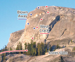 West Crack, Tuolumne Route Photo