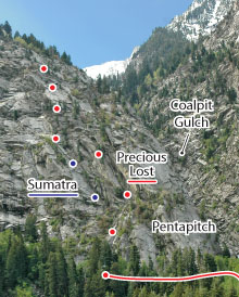 Precious Lost, Wasatch Range Route Photo