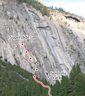Superslide, Yosemite Route Photo